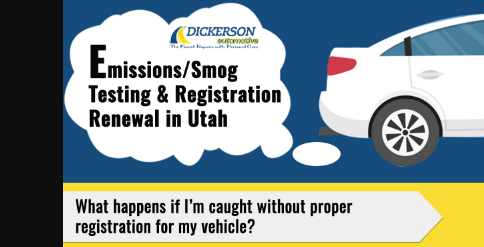 Emissions Testing Registration Renewals In Utah 2018 Infographics Race